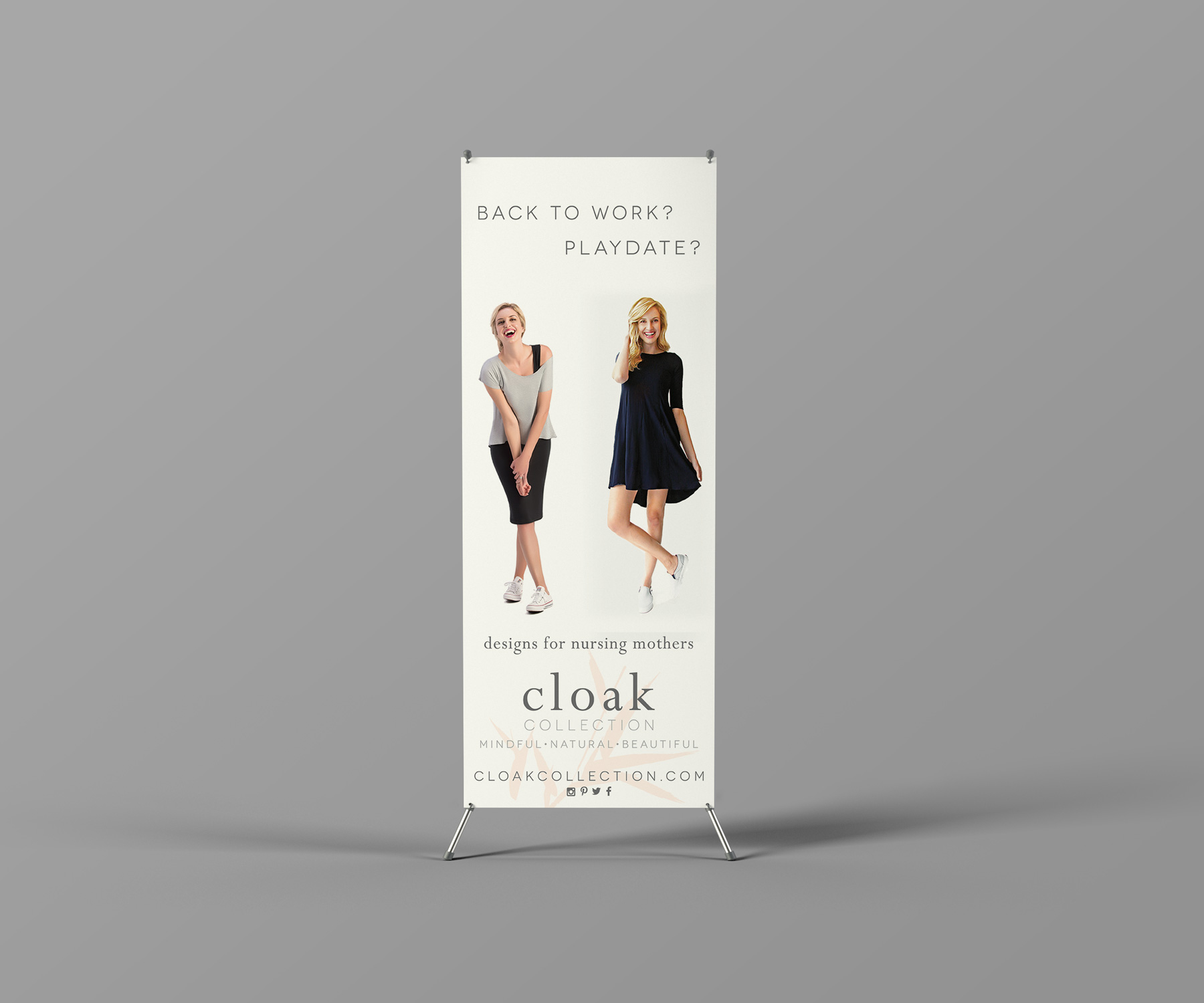 Cloak Collection Standing Banner